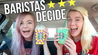 Letting Starbucks Baristas Pick Our Drinks!