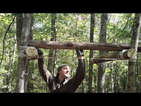 How One Person Can Build A Tree Platform #Bushcraft