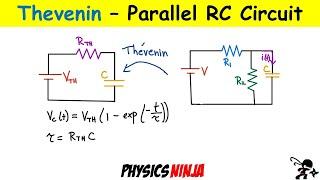 Parallel RC CIrcuit Usİng Thevenin Equivalent