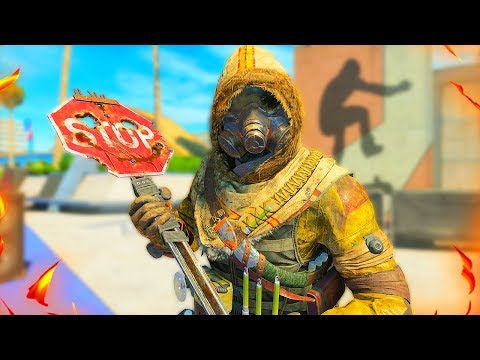 """NEW """"STOP SIGN"""" DLC MELEE WEAPON in BLACK OPS 4!!"""
