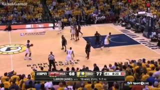 Lance Stephenson BORN TO BE A FLOPPER on LeBron James Heat vs Pacers Game 5 #NBAPlayoffs