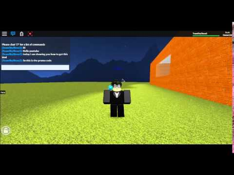 Promo code for ROBLOX (May 2015) - YouTube