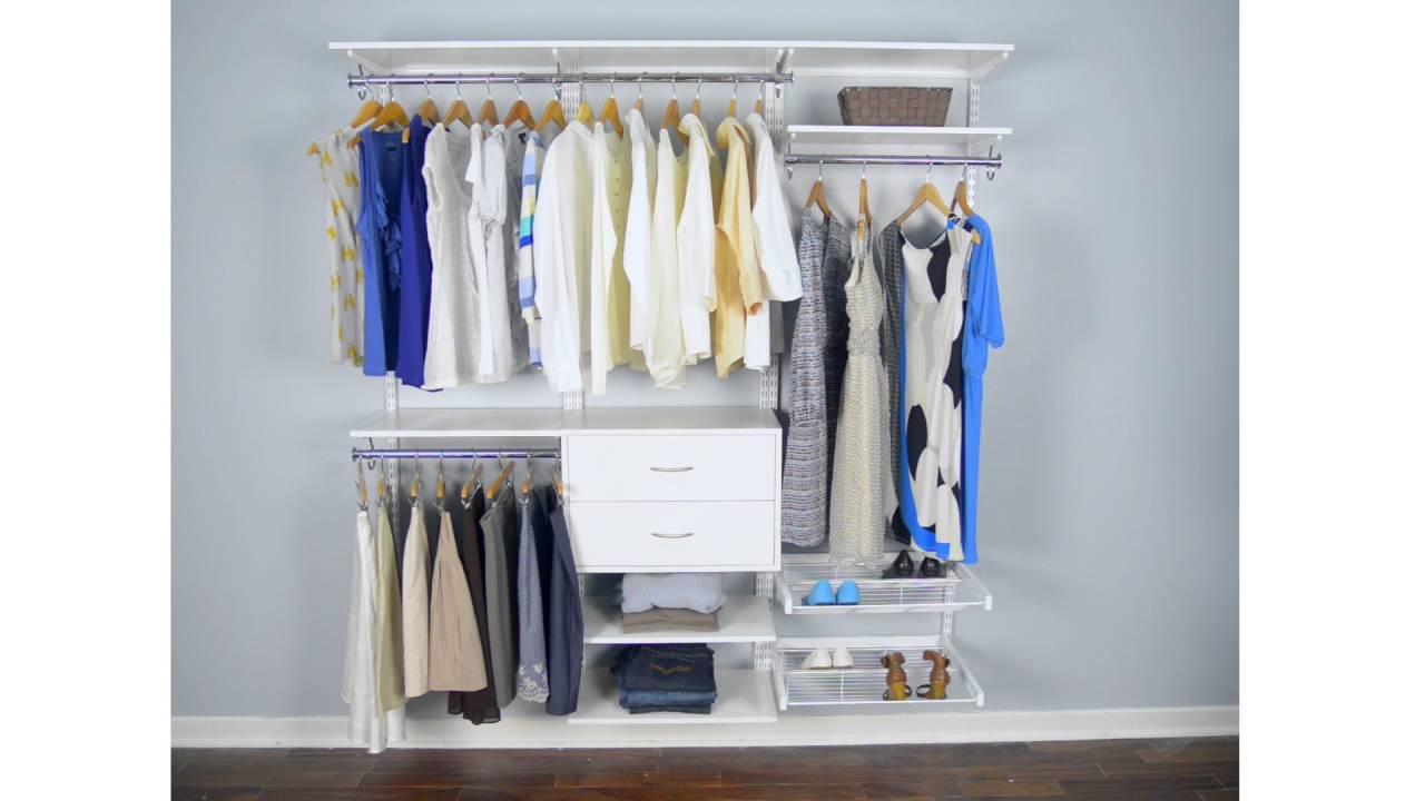 Great Freedomrail Closet #22 - Organized Living FreedomRail | A Truly Adjustable Closet Storage System
