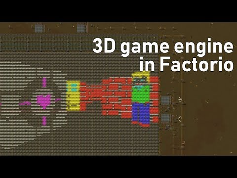 Raycasting engine in Factorio (vanilla 0.17) - Facto-RayO v1.0