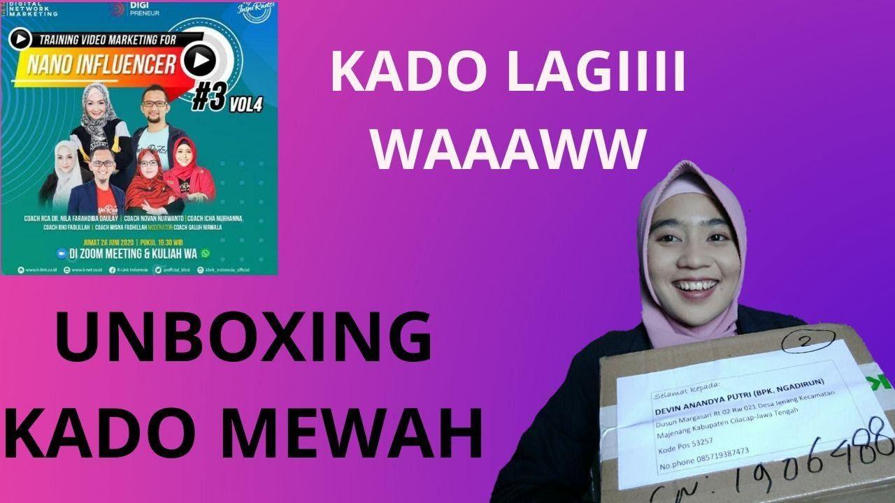 UNBOXING KADO MEWAH CHALLANGE 30 DAY VIDEO MARKETING NANO INFLUENCER | Akademi DNM InspiRadzi