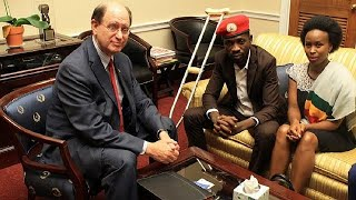 Bobi Wine meets U.S. congressman, to petition Trump to stop funding Uganda army