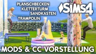 Planschbecken, Sandkasten, Trampolin & Kletterturm für Die Sims 4 als Download