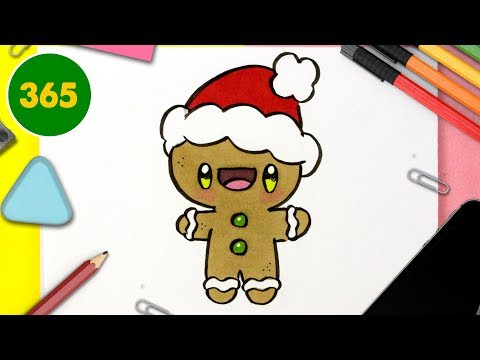 Comment Dessiner Un Biscuit De Noël Kawaii Dessins Kawaii Facile