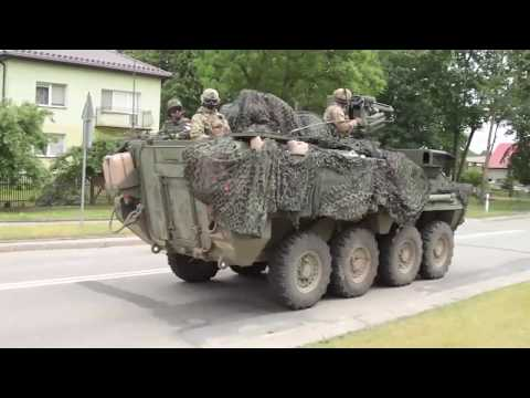 Enhanced Forward Presence Battle Group Poland Conducts a Road March