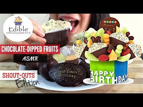 ASMR SHOUTOUT BIRTHDAY SPECIAL CHOCOLATE DIPPED FRUITS | Eating Show | MUKBANG | Juicy Eating Sounds