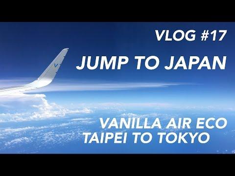 INFLIGHT EXPERIENCE | Vanilla Air Flight Taipei to Tokyo Narita - Jump to Japan [1080p60]
