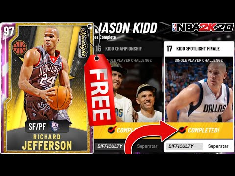 HOW TO GET A *FREE* PINK DIAMOND RICHARD JEFFERSON! EASY SPOTLIGHT CHALLENGES METHOD! (NBA 2K20)