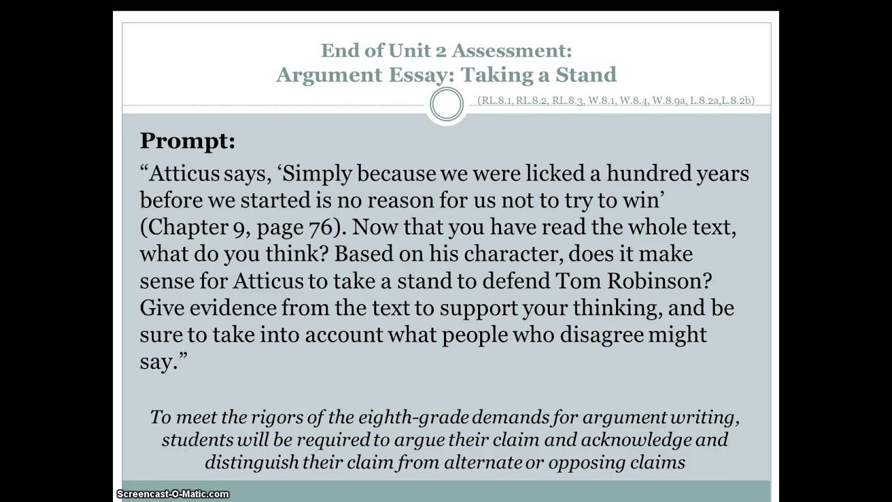 s w module 4 argumentative essay Grade 6: module 4: unit 3: lesson 2 planning the argument: writing the claim and reasons long-term targets addressed (based on nysp12 ela ccls.