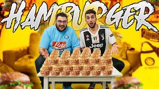 🍔 HAMBURGER CHALLENGE vs TONY TUBO! FIFA vs FOOD! NAPOLI - JUVENTUS CHALLENGE!