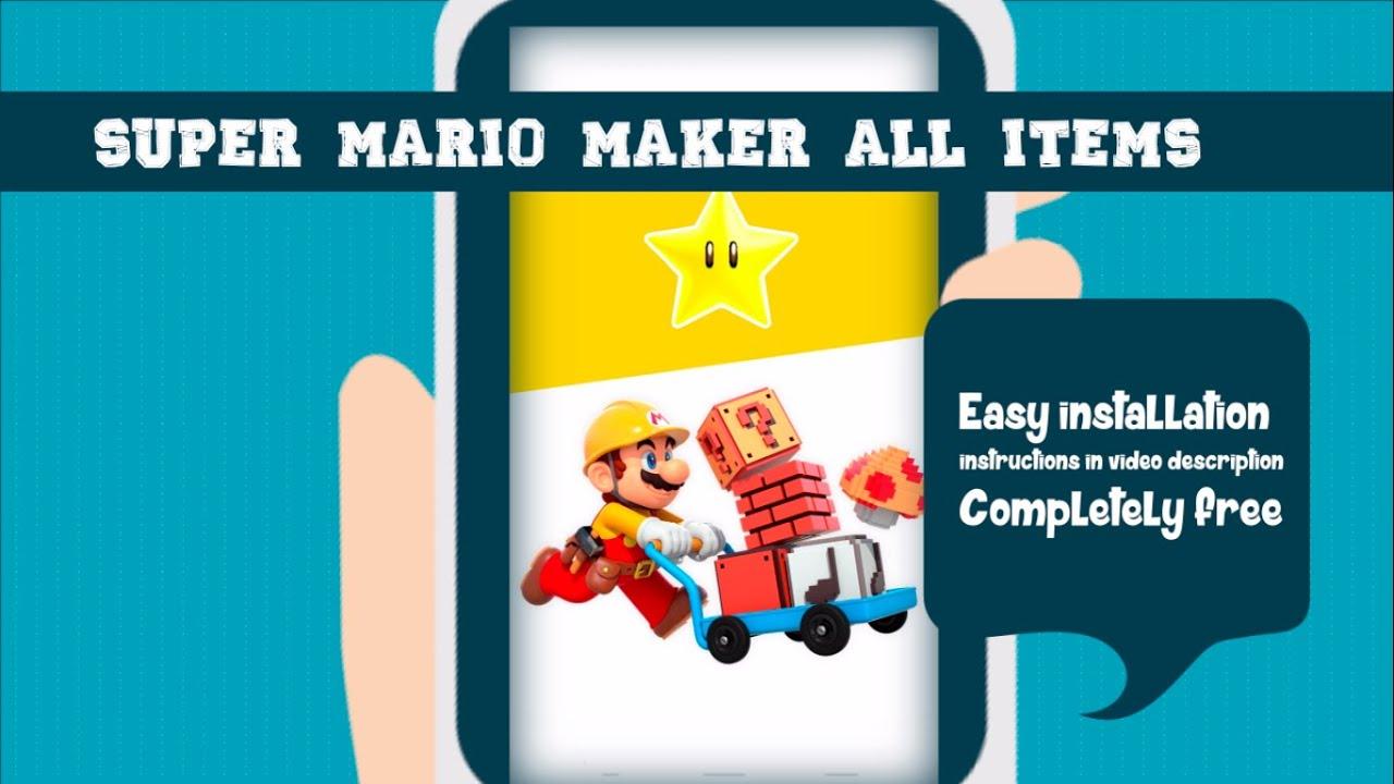 Free Live Wallpaper Gamers Super Mario Maker ALL ITEMS