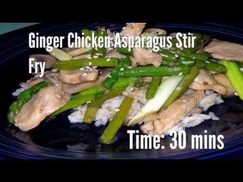 Ginger Chicken Asparagus Stir Fry Recipe