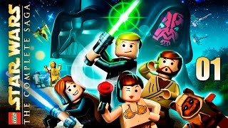 LEGO Star Wars: The Complete Saga - Прохождение (кооп) pt1 - Эпизод I