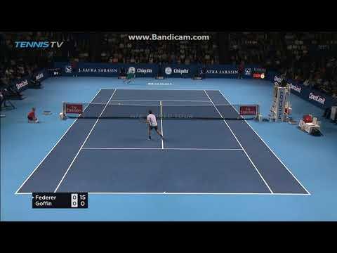 Roger Federer vs David Goffin Basel Semi Final Highligts 2017