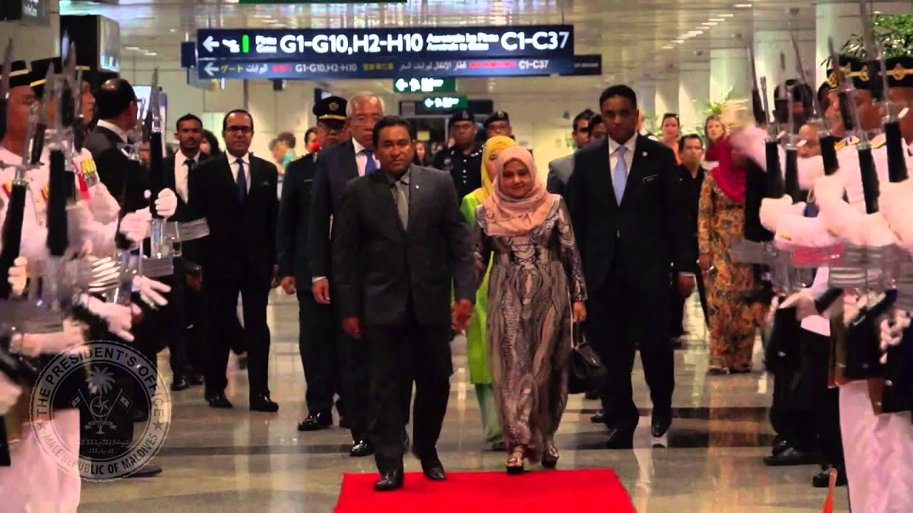 President and First Lady arrives in Malaysia on an official visit