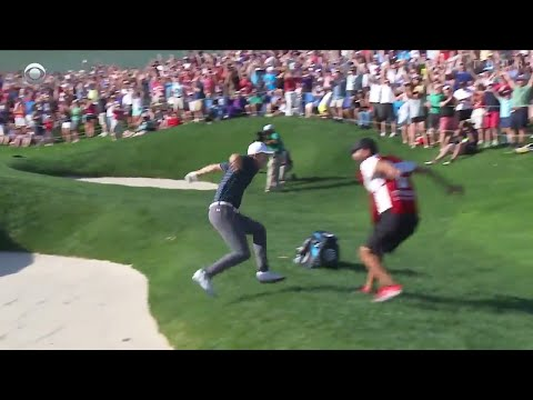 Jordan Spieth's incredible bunker shot to win Travelers!
