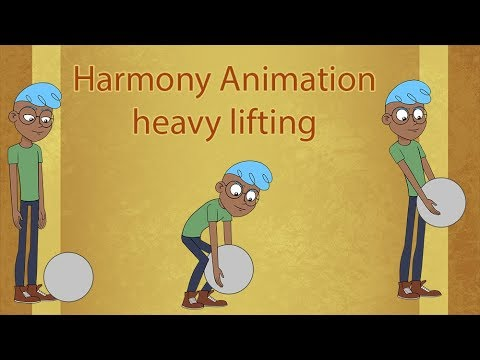 Animating an object lift in Toonboom Harmony