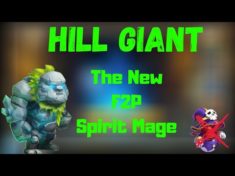 Hill Giant The New F2p Spirit Mage | Castle Clash