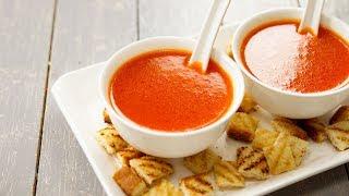 हटल सटइल टमटर क सप बनन क वध - tomato soup recipe perfect cookingshooking