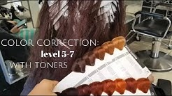 COLOR CORRECTION from level 5 to level 7 with TONERS