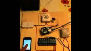Commande d'une lampe avec l'iPhone ou un interrupteur