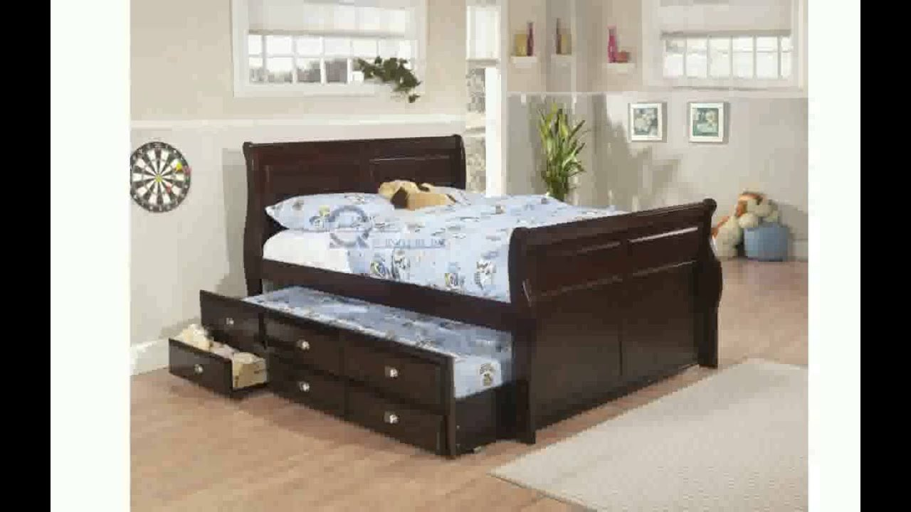 Trundle Bed Frame Queen Size - YouTube