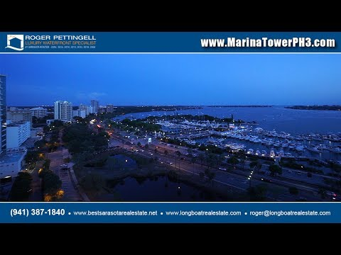 Luxury penthouse for sale at Marina Tower with panoramic views overlooking Sarasota