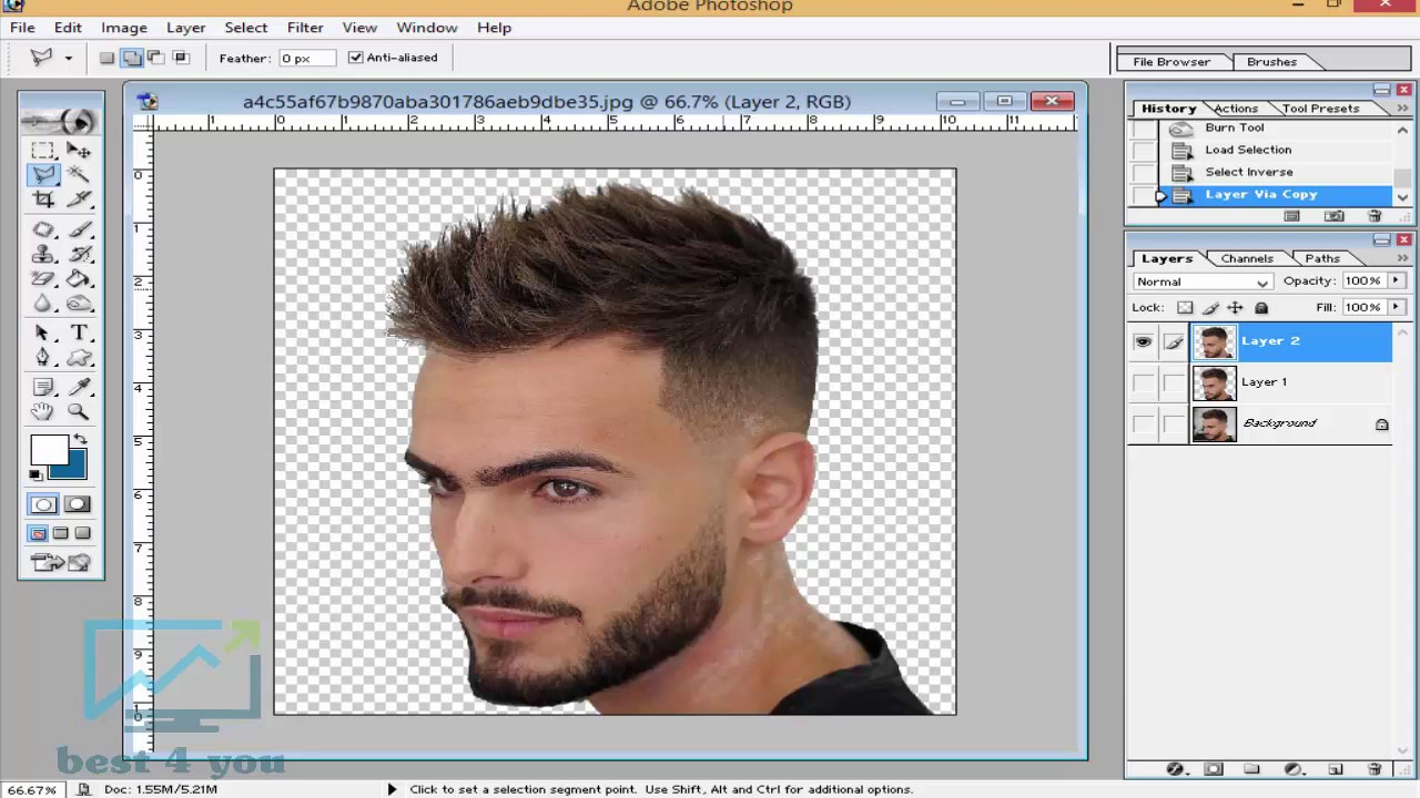 How to CutYour own hair in Photoshop 11.11 - In Hindi / Urdu