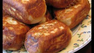 Жареные пирожки с повидлом на холодной закваске
