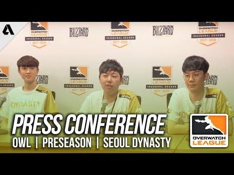 Seoul Dynasty Press Conference ft Fleta Ryujehong | Overwatch League Preseason