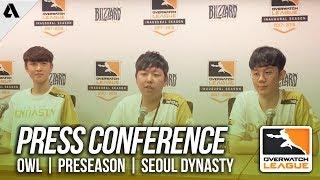 Overwatch   Seoul Dynasty Press Conference - Overwatch League Preseason   Akshon Esports