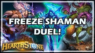 FREEZE SHAMAN DUEL! - Boomsday / Constructed / Hearthstone