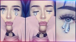 painted tears makeup tutorial