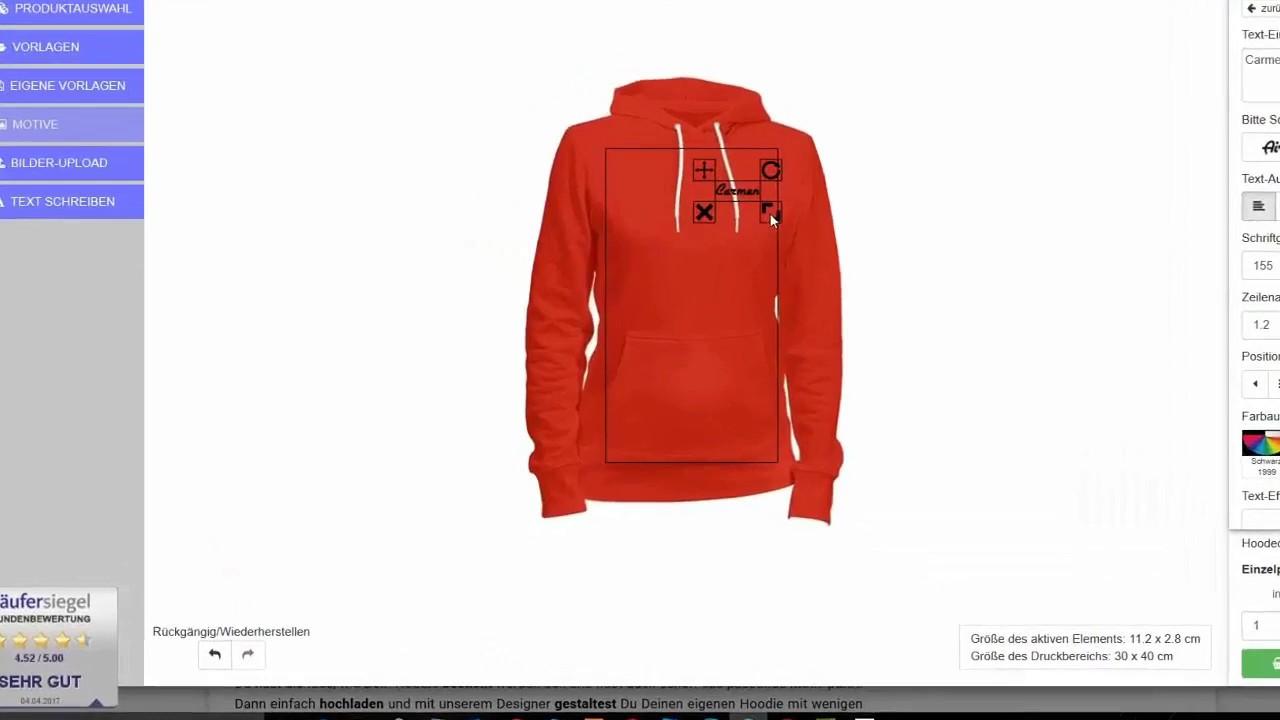 quality design 9b042 7b6c5 ▷ Hoodies besticken lassen - Online selber gestalten