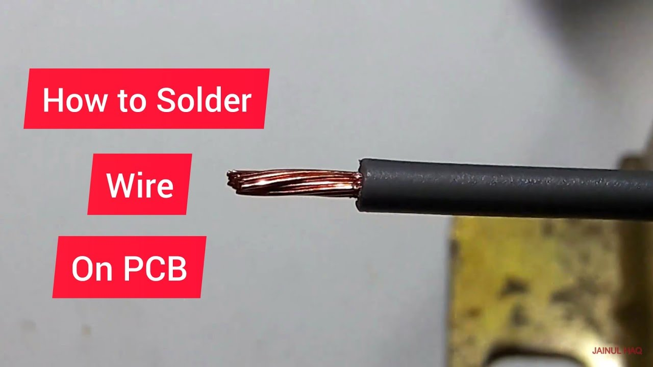 How to Solder Wires Properly on PCB - YouTube