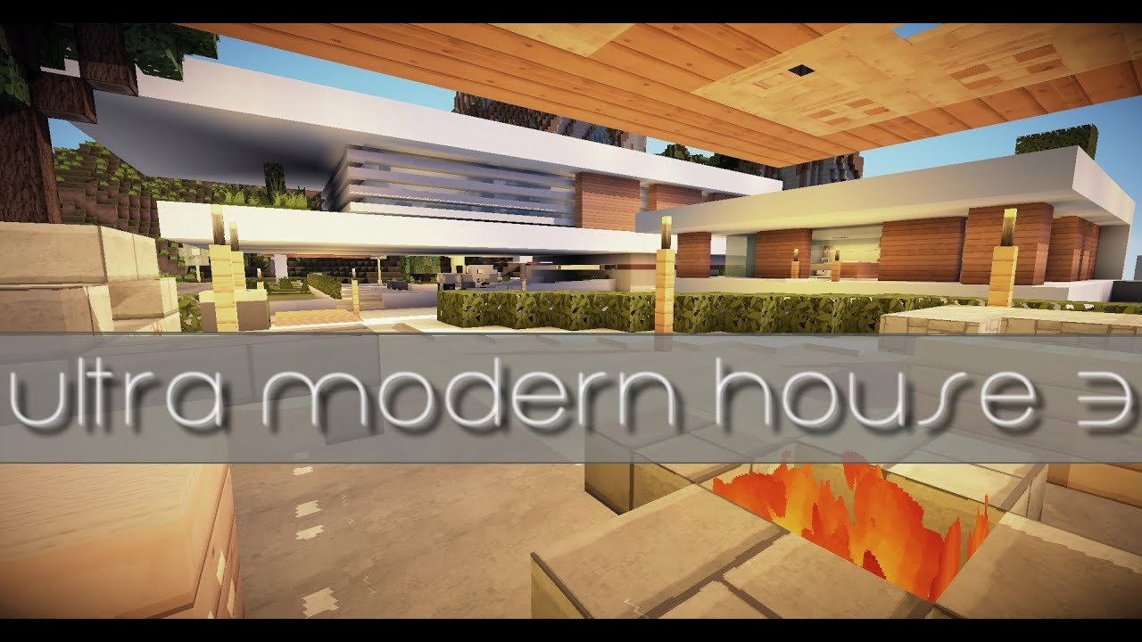 Minecraft - Maison Ultra Moderne pour PMR : Visite + Download - YouTube