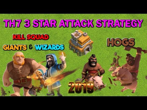 TH7 3 Star Attack Strategy - Kill Squad Hogs - Clash Of Clans 2019