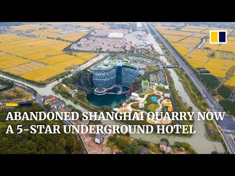 Abandoned Shanghai quarry now a 5-star underground hotel