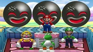 Mario Party 6 Mini Games - Mario Vs Luigi Vs Wario Vs Yoshi (Master CPU)