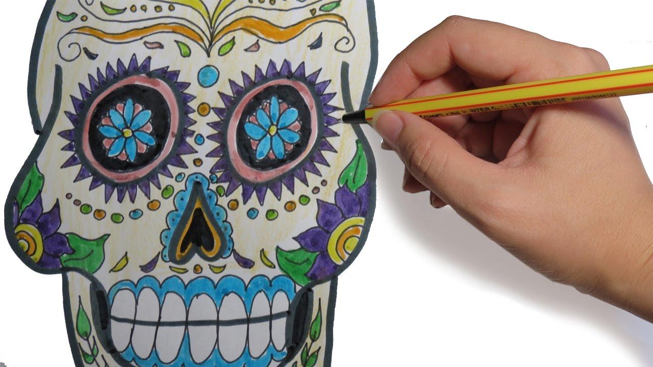 como dibujar una calavera mexicana paso a paso youtube