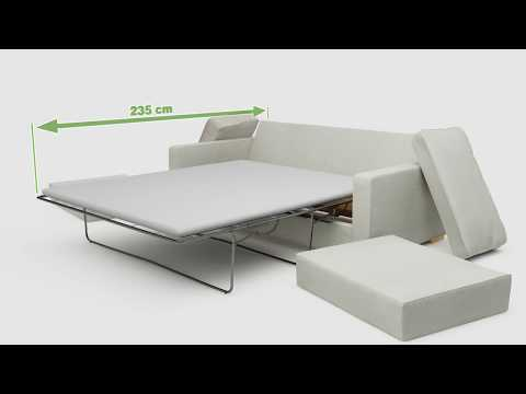 Arc 2 Seat Double Sofa Bed