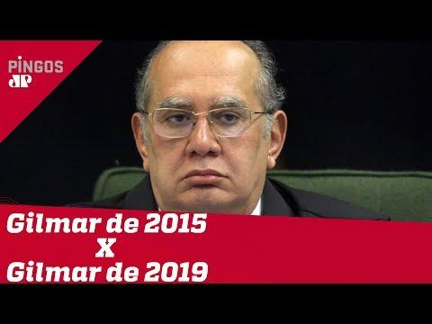 Gilmar Mendes antes e depois
