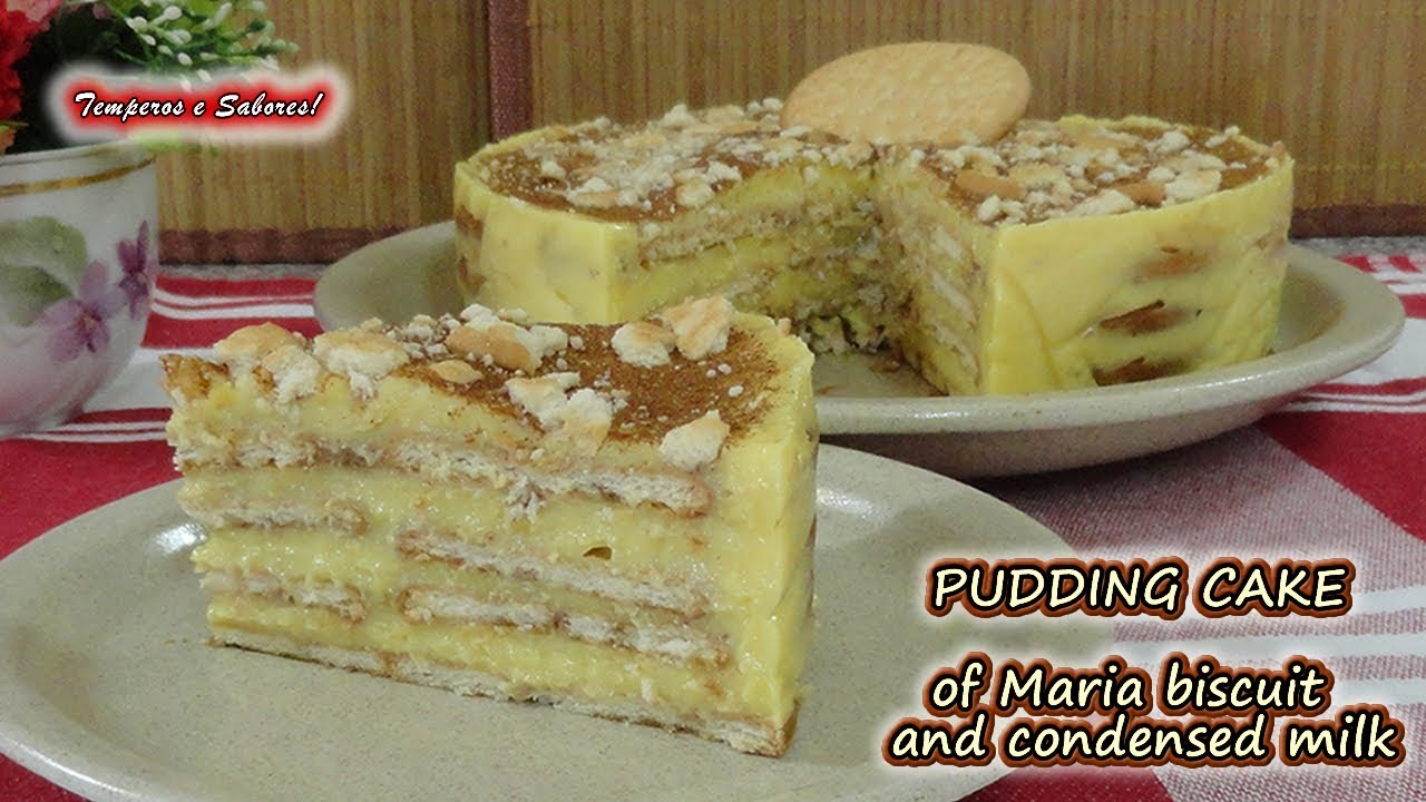 Pudding Cake Of Maria Biscuit And Condensed Milk Without Oven Youtube