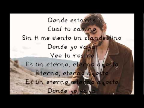 Alvaro Soler Agosto Lyrics Letra Youtube