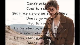 Alvaro Soler Agosto Lyrics Letra