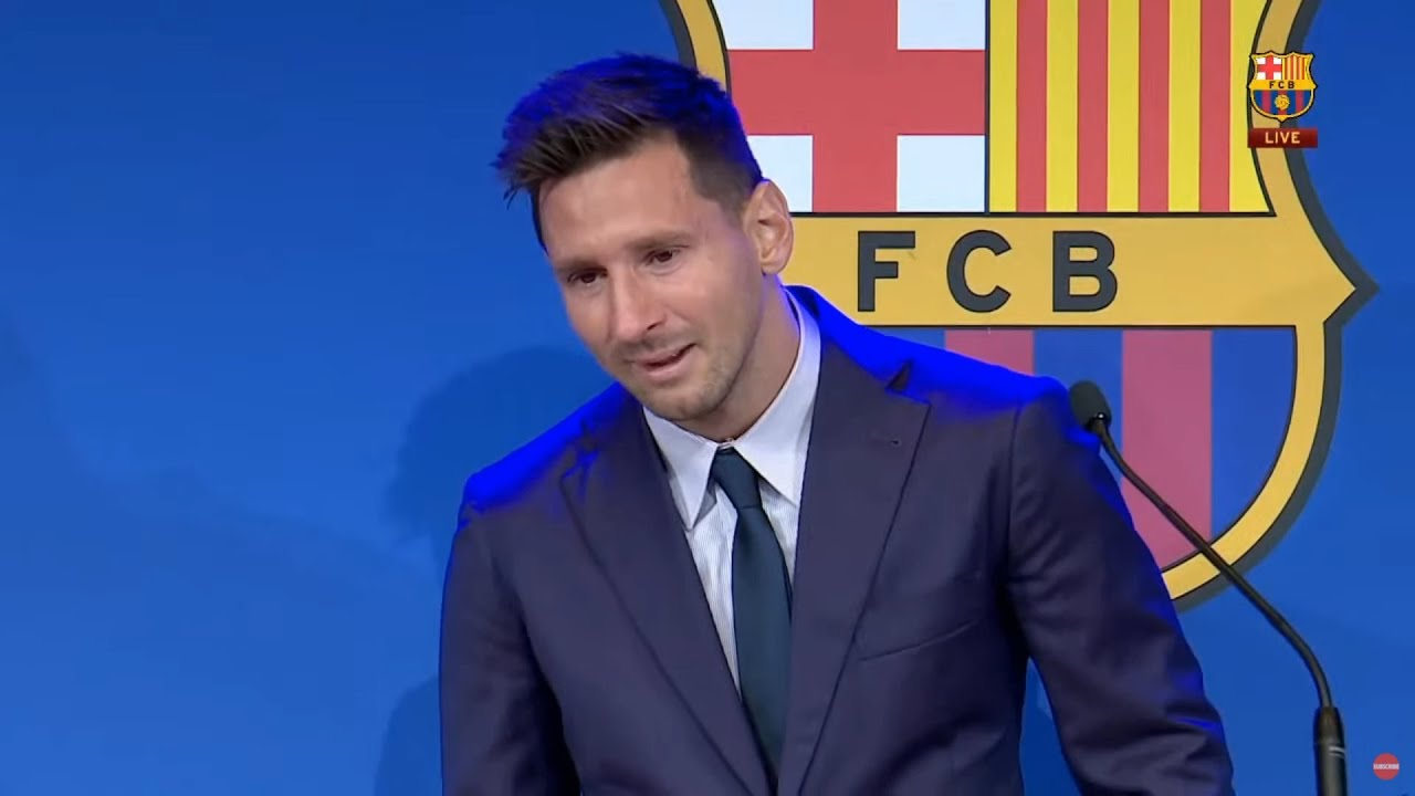Download Lionel Messi Emotional Farewell To Barcelona
